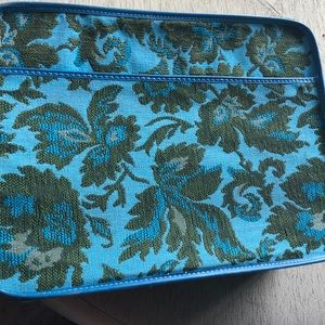 Vintage tapestry small suitcase